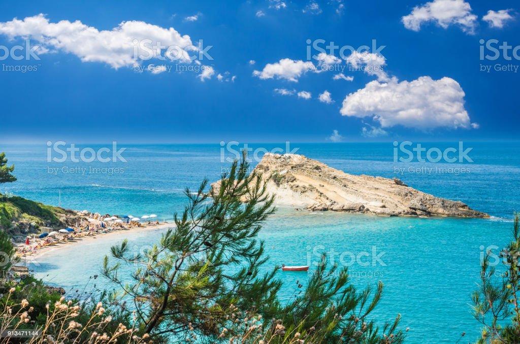 Turkopodaro Beach, Kefalonia Islands , Greece stock photo