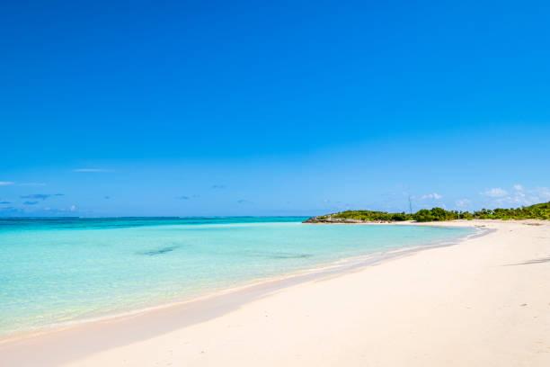 Turks and Caicos, North Caicos - Pumpkin Bluff Beach stock photo