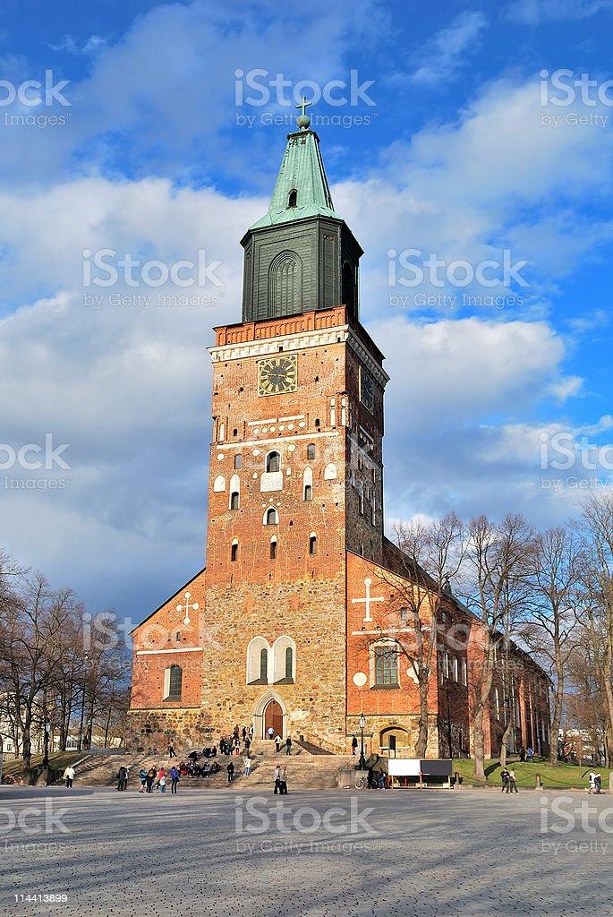 Turku Cathedral royalty-free stock photo