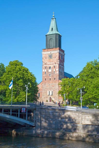 Turku Cathedral stock photo