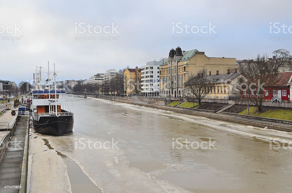 Turku in winter royalty-free stock photo