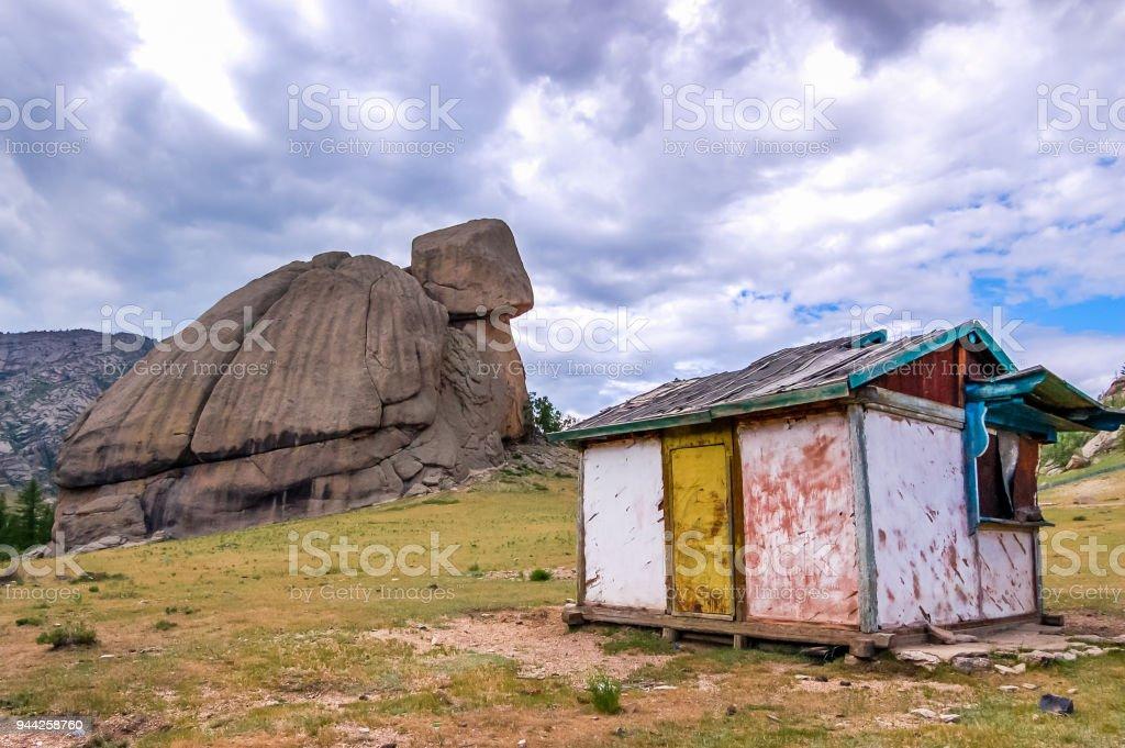 Turle Rock, Gorkhi Terelj National Park, Mongolia stock photo