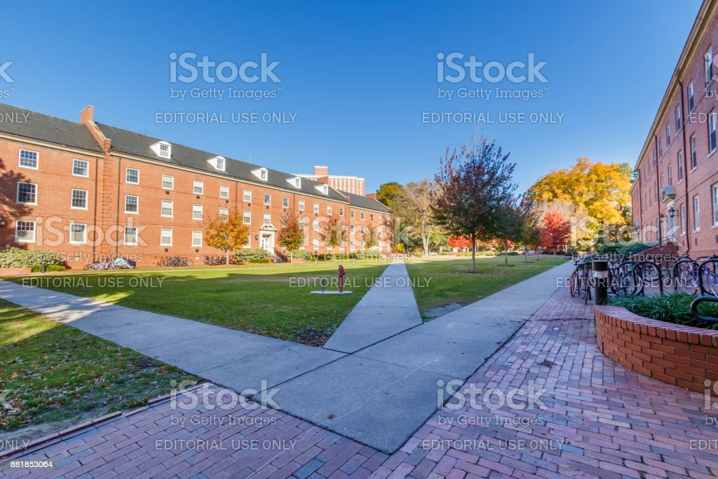 Turlington Hall at NC State University stock photo