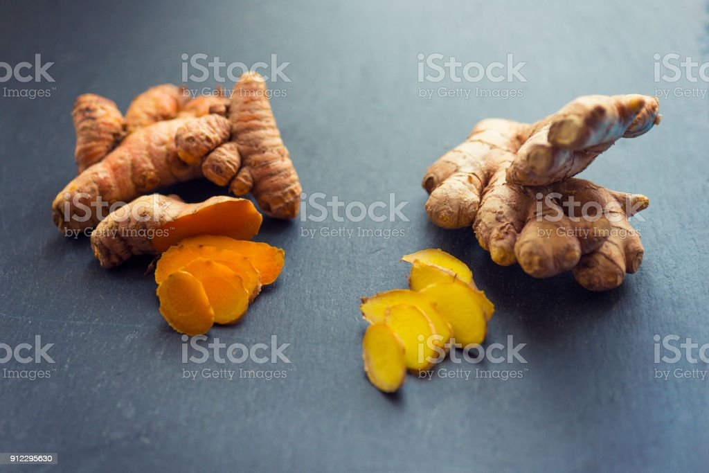 Turmeric and Ginger stock photo