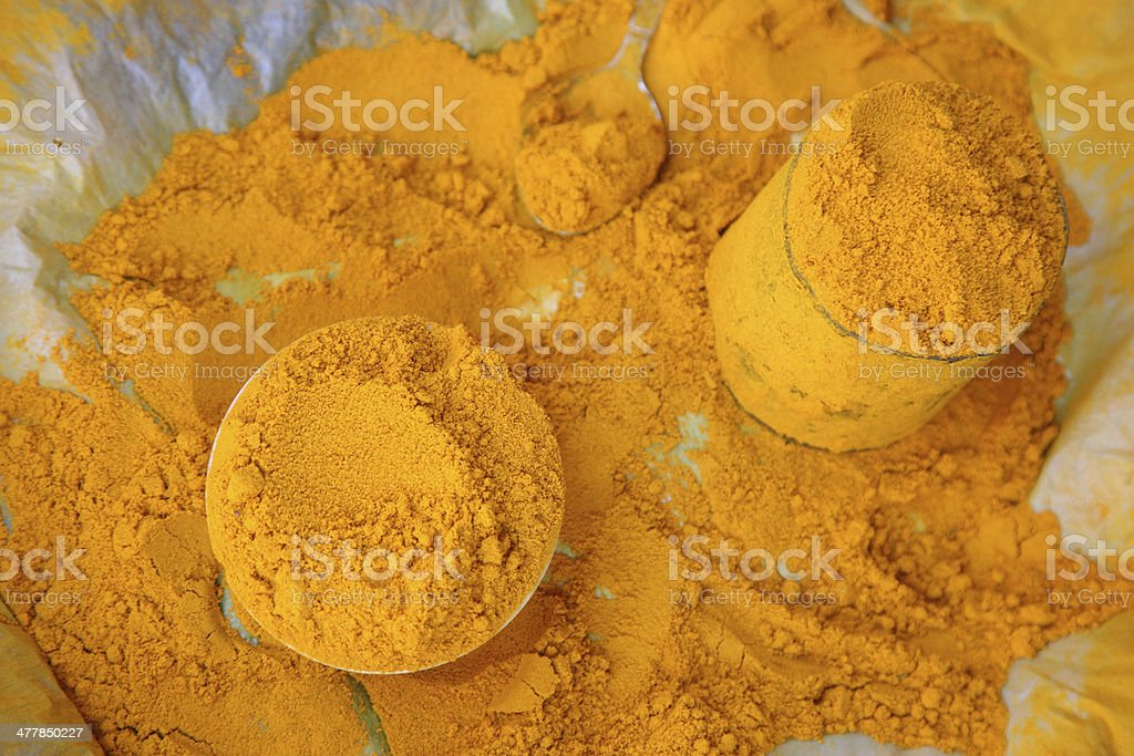 turmeric powder from vegetable market. royalty-free stock photo