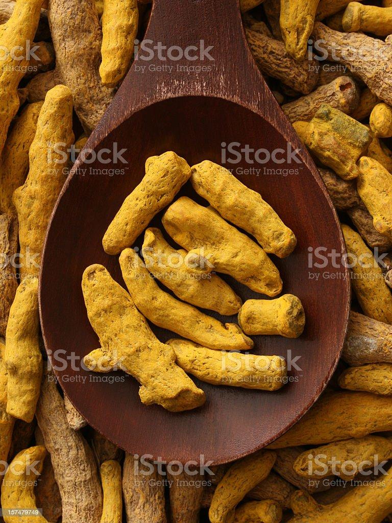 Turmeric root royalty-free stock photo
