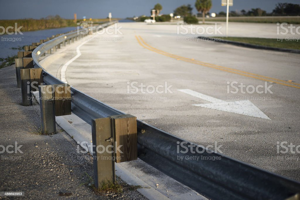 Turn in the Road royalty-free stock photo