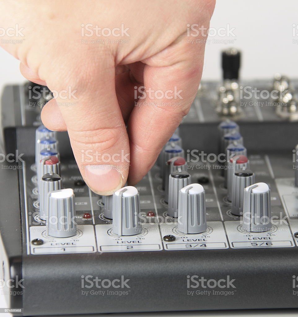 Turn it up ! royalty-free stock photo