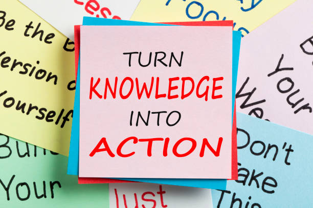 Turn Knowledge Into Action Concept stock photo