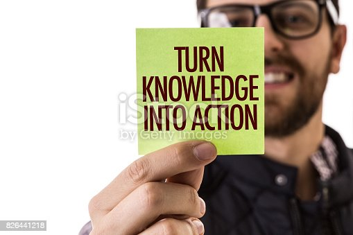 istock Turn Knowledge into Action 826441218