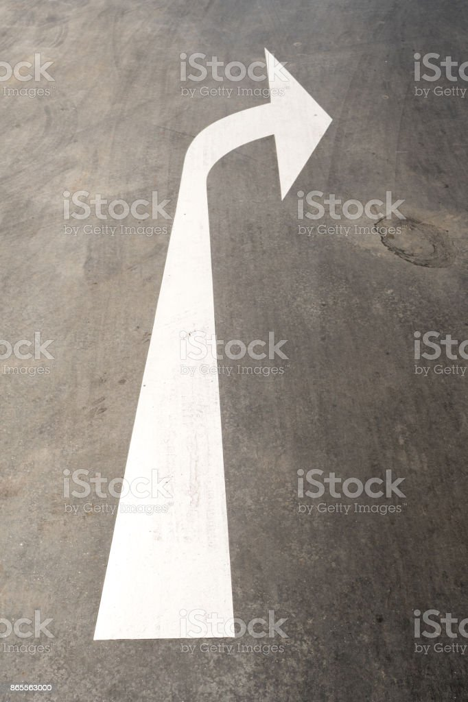 Turn Left Arrow Road Traffic Sign stock photo