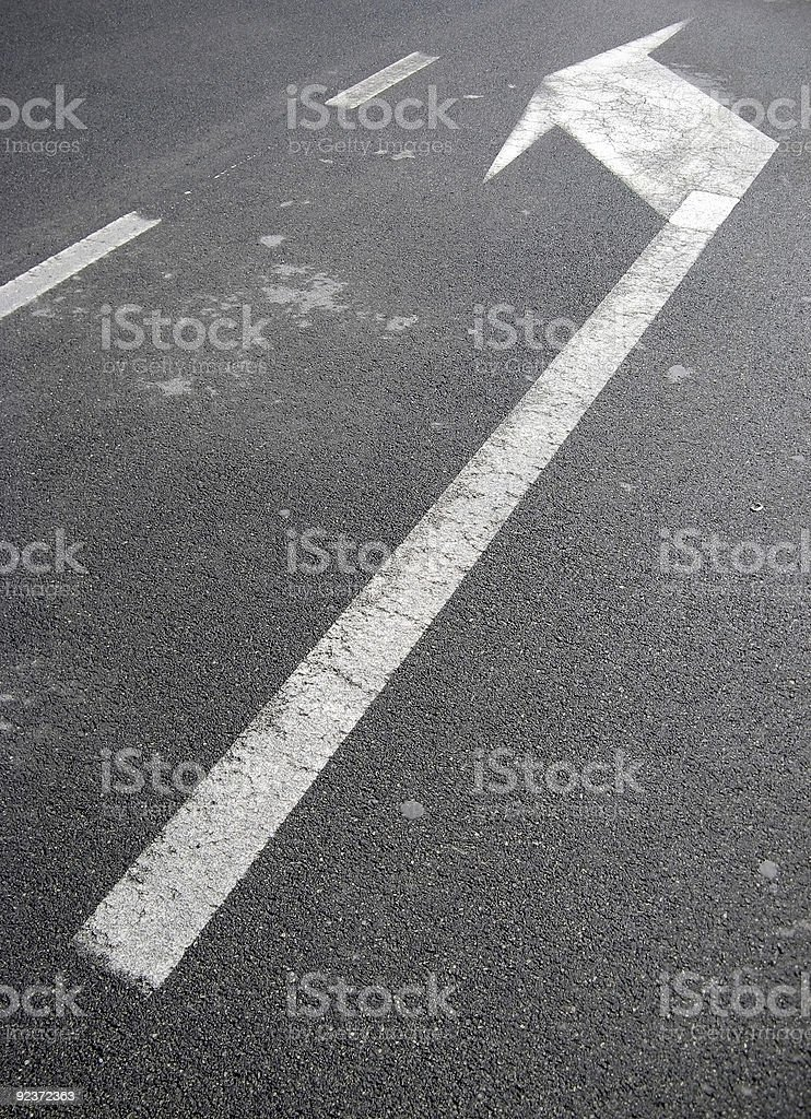 Turn left royalty-free stock photo