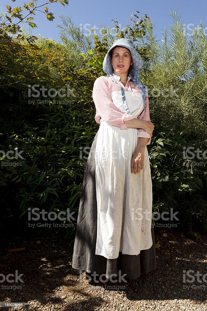Turn of the Century Woman Wearing Bonnet stock photo
