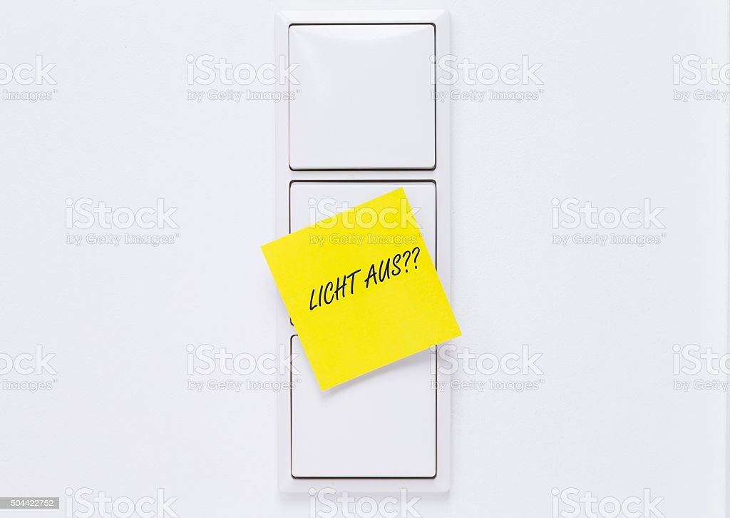 Turn off light switch stock photo