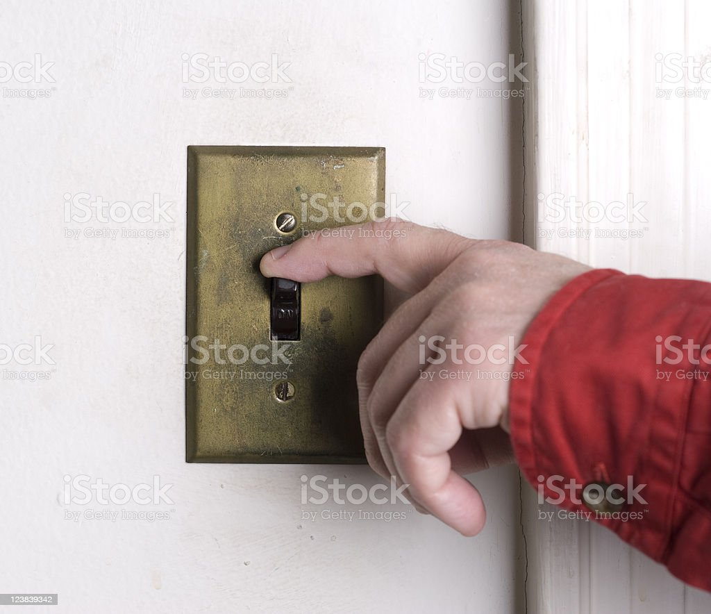 Turn Off the Light royalty-free stock photo