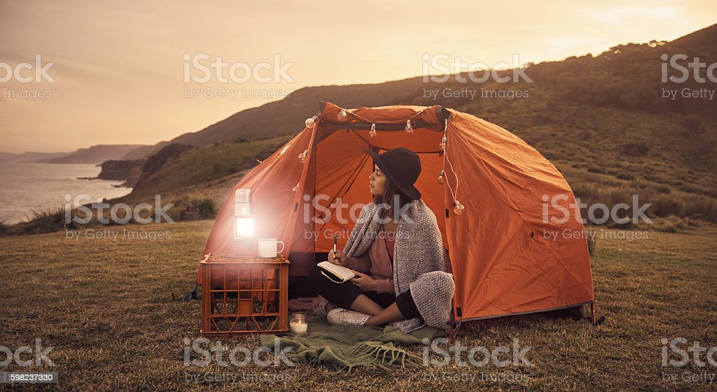 Turn off your phone and live in the moment stock photo