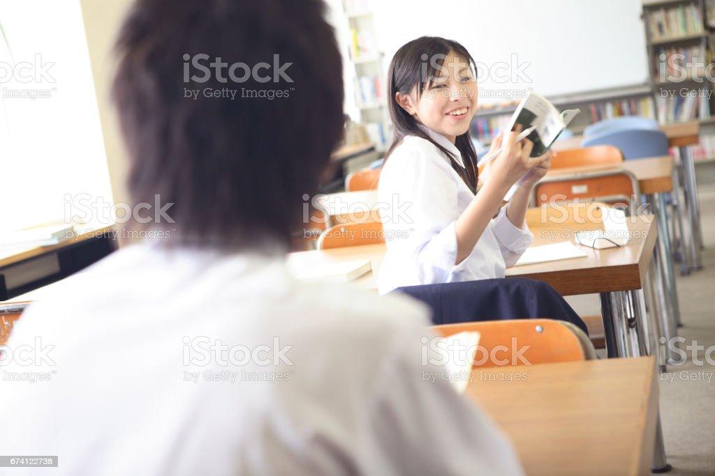 打開女子高中 免版稅 stock photo