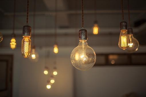 turn on light bulbs in house