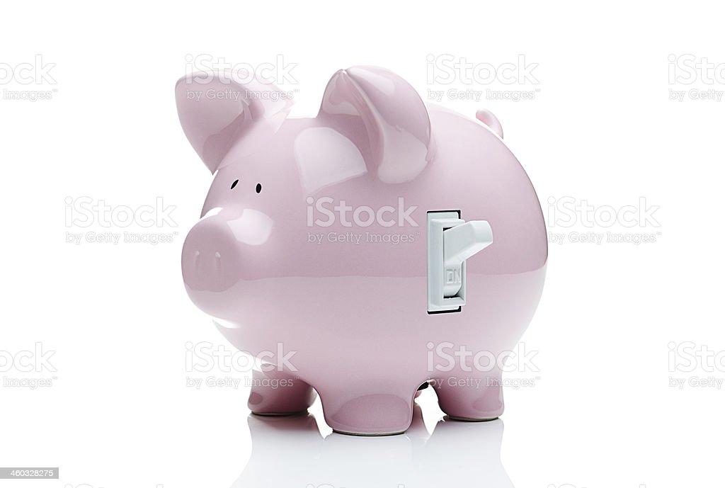 Turn on the savings stock photo