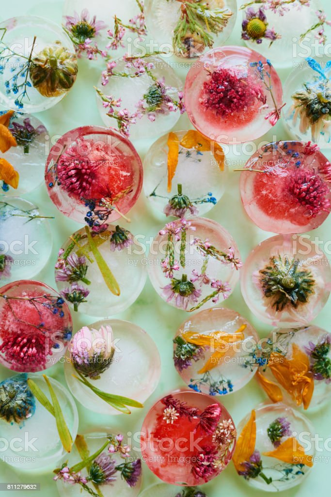 Turn ordinary cubes into beautiful refreshments stock photo