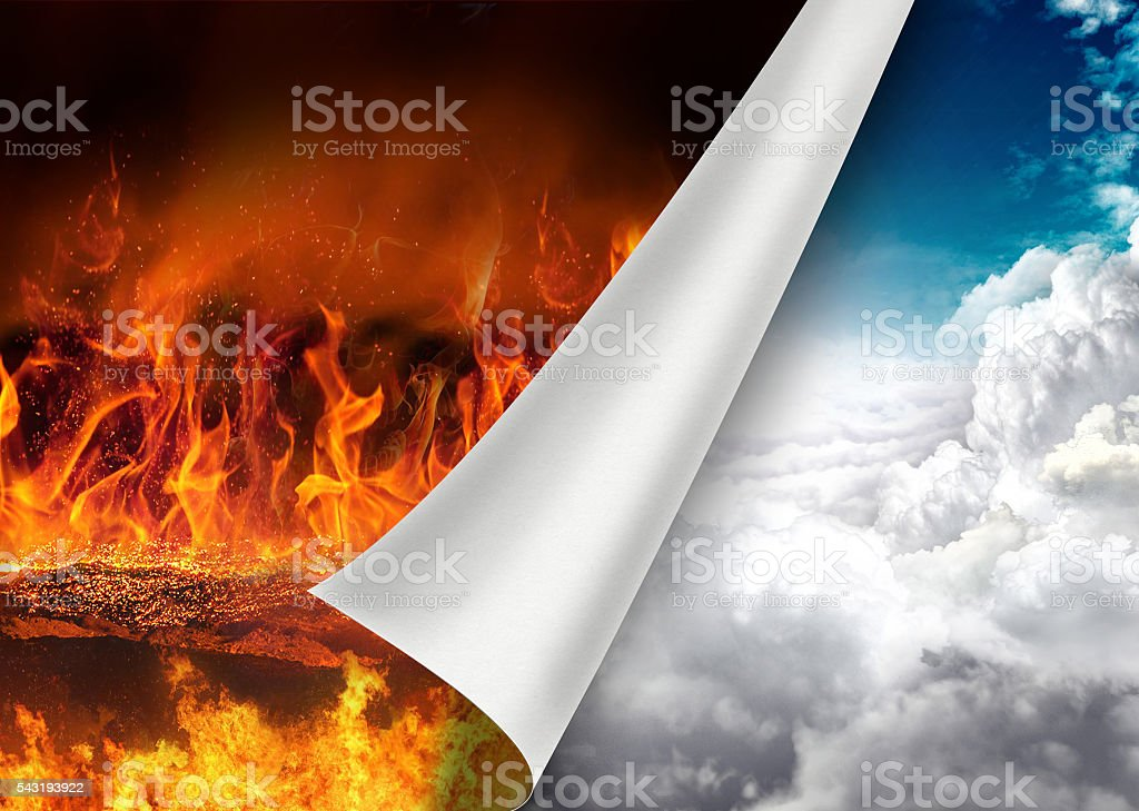 Turn page to heaven stock photo