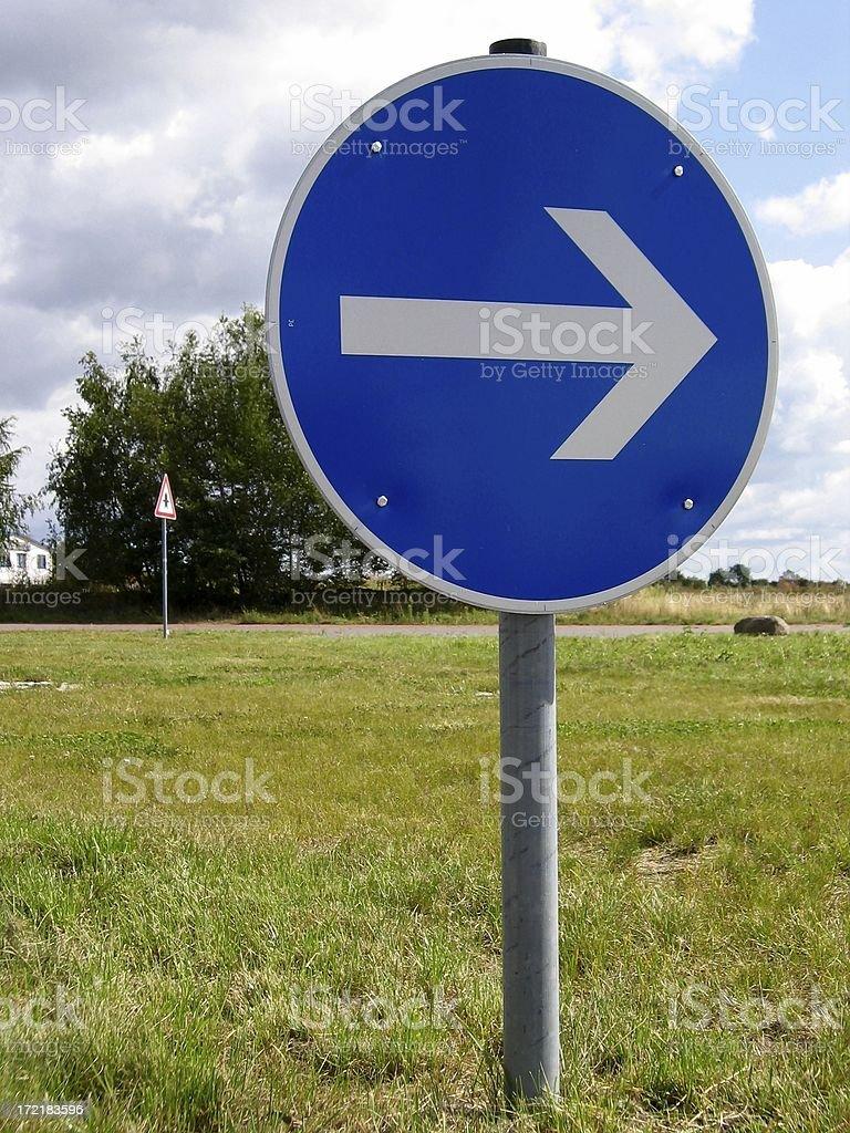 Turn right stock photo