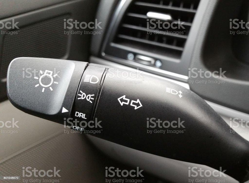 Turn Signal and Headlight Switch stock photo
