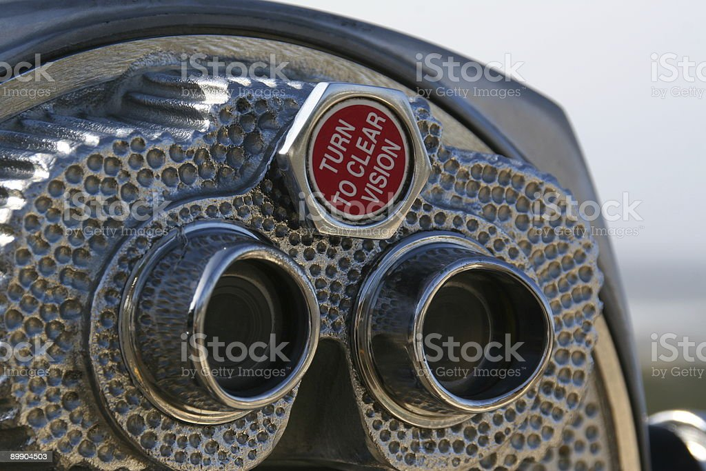 Turn to Clear Vision stock photo