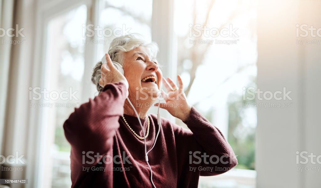 Turn up the volume of life stock photo