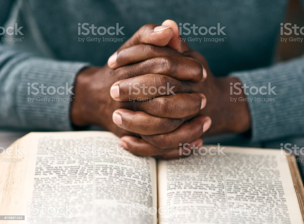 Turn your worries into prayers stock photo