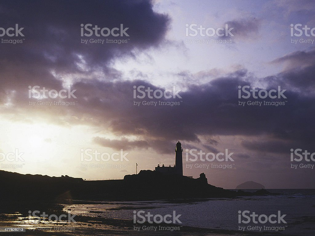 Turnberry Lighthouse & Ailsa Craig, Ayrshire Scotland stock photo
