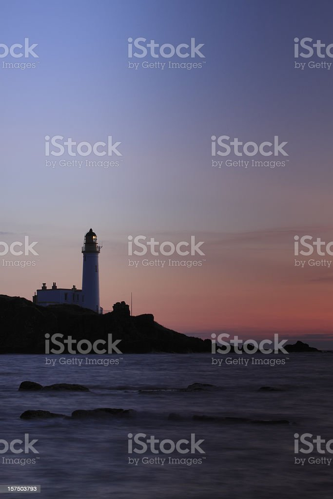 Turnberry Lighthouse, Ayrshire at Sunset. stock photo