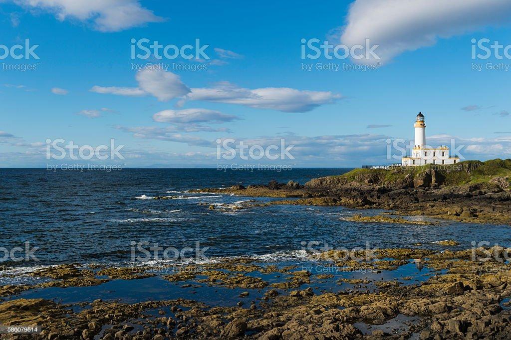 Turnberry lighthouse on the Ayrshire coast of west Scotland stock photo
