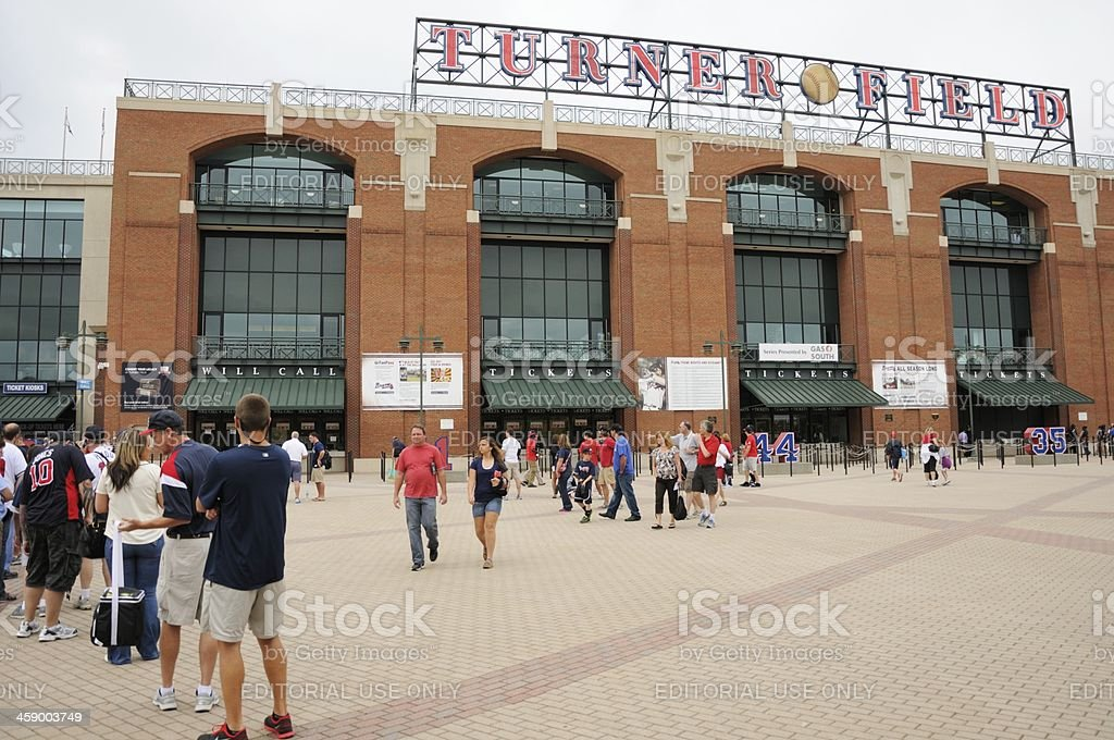 Turner field with sign stock photo