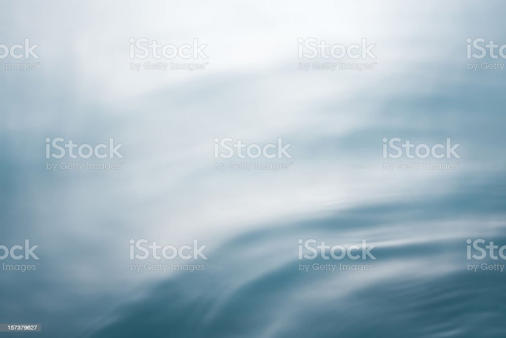 Turneresque soft blue sea with movement royalty-free stock photo
