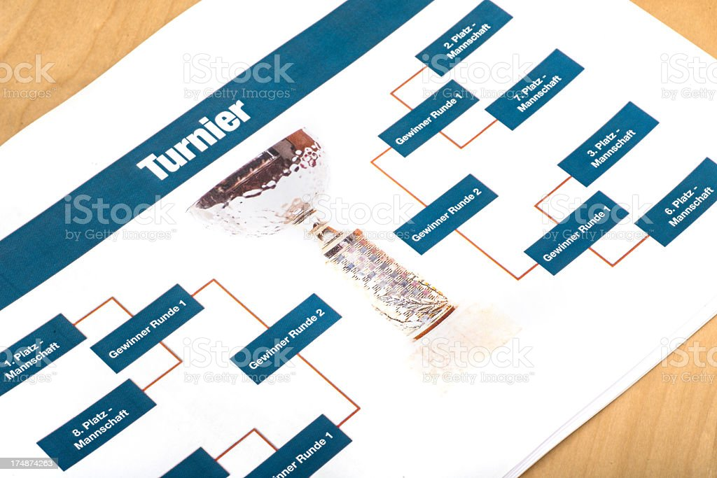 Turnierplan royalty-free stock photo