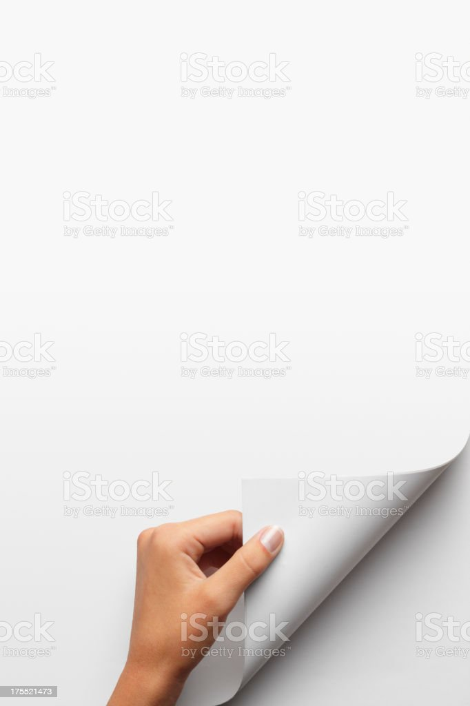 Turning a Page stock photo