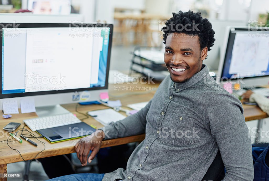 Turning a passion for design into a career stock photo