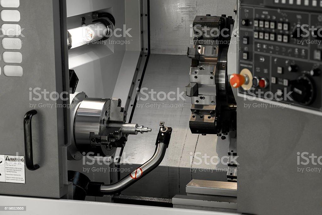 CNC turning center stock photo