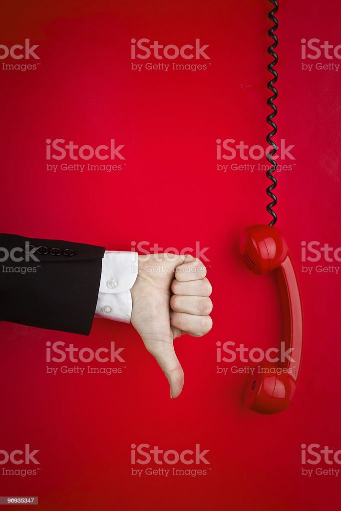 Turning down a Phonecall royalty-free stock photo