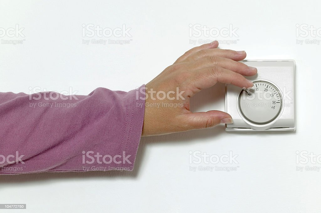Turning down the heat royalty-free stock photo