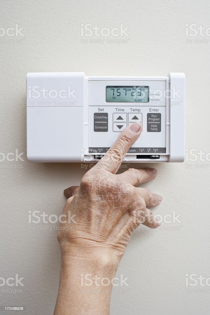 Turning down the temperature royalty-free stock photo