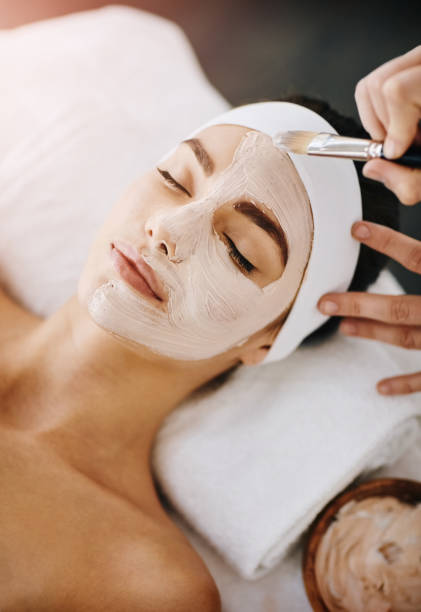 turning dull skin into a thing of the past - chemical peel stock pictures, royalty-free photos & images