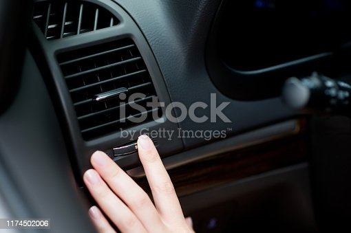 istock turning off the air flow from the air conditioner to the driver 1174502006