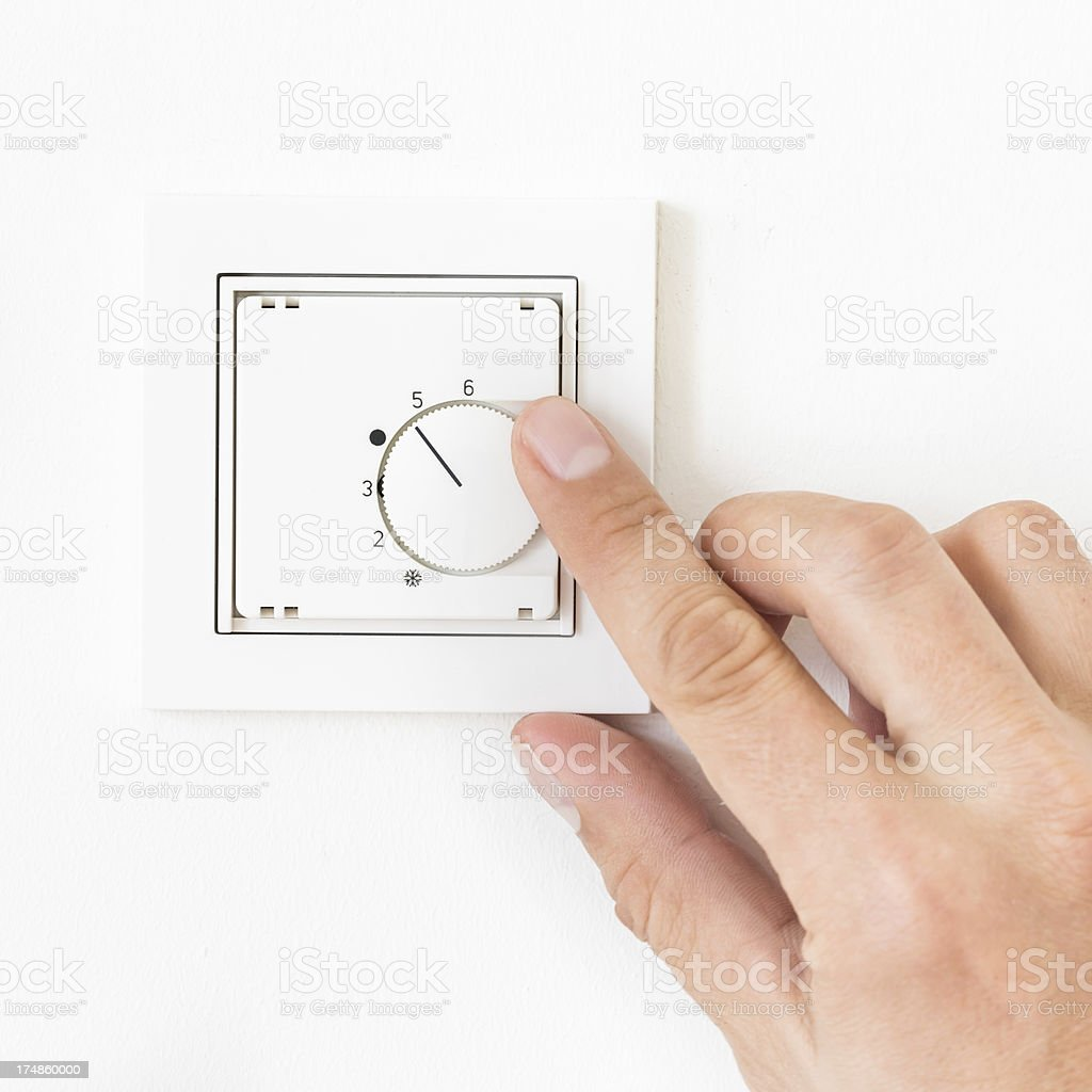 Turning On/Off Floor Heating royalty-free stock photo