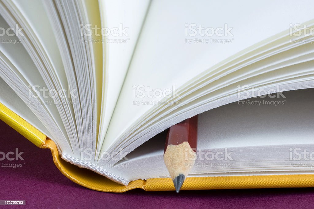 Turning pages of a book stock photo
