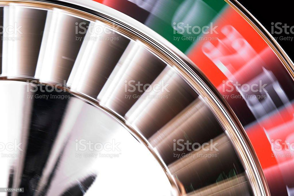 Turning Roulette Wheel royalty-free stock photo