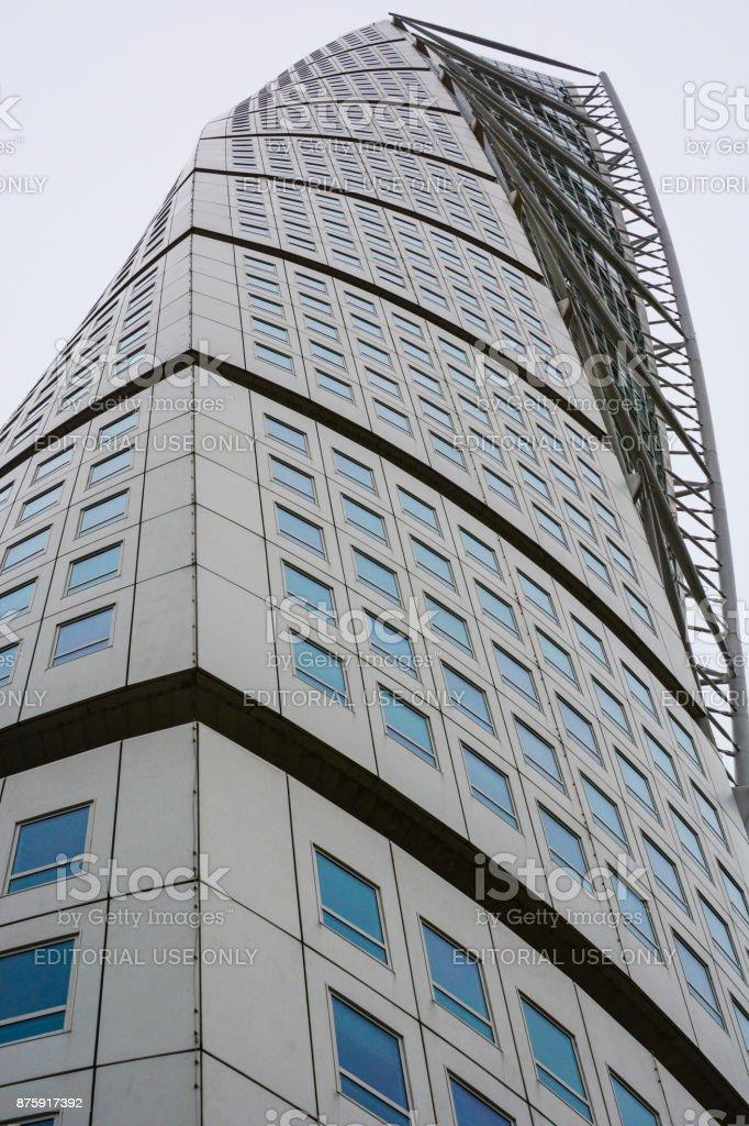 Turning Torso building, neo-futurist skyscraper in Malmo stock photo