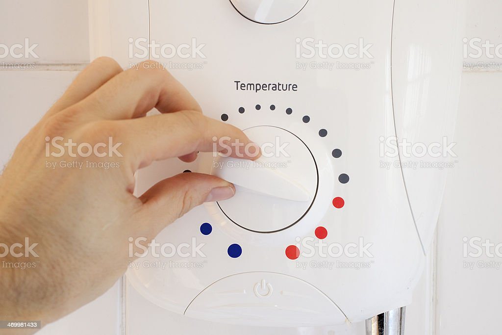 Turning up the temperature stock photo
