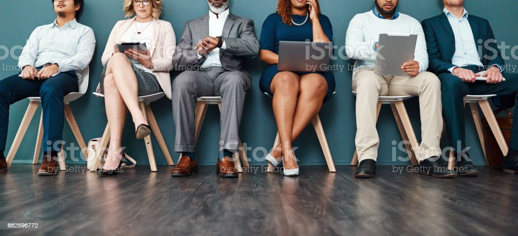 Turning waiting time into a productive time stock photo